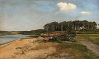fiord scene from denmark by janus andreas barthotin la cour