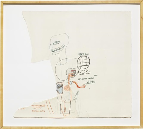 untitled its all the same by jean michel basquiat
