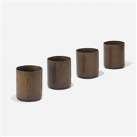 wastepaper baskets, set of four by jens risom