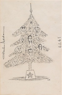 addams family christmas tree by charles addams