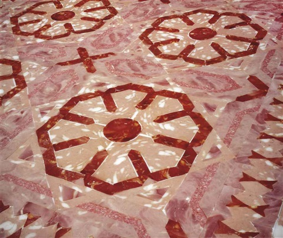 marble floor 70 by wim delvoye