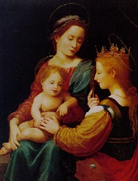 madonna and child with st. catherine of alexandria by giuliano bugiardini