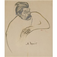 portrait of maxim gorky by viktor deni