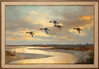 teal streak over a widening dyke by wilfred bailey