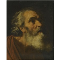 head of a male saint (study of saint peter?) by hendrick van somer