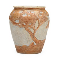 small and vase with california landscape by arequipa pottery