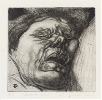 sleeping head by dennis jones
