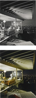 selected images of case study house #22, los angeles (stahl house by pierre koenig) by julius shulman