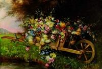 la brouette de fleurs by alice de merode