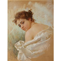 beauty in satin and pearls by michele cortegiani