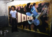 blade painting his first canvas in basement of his bronx building by martha cooper