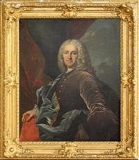 portrait d'homme à l'habit bleu by hyacinthe rigaud