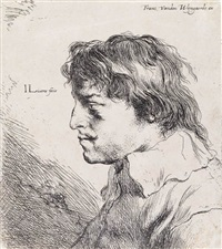 head of a young man facing left by jan andreas lievens the younger