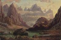 sunset, peaks of the horungerne, norway by charles pettitt