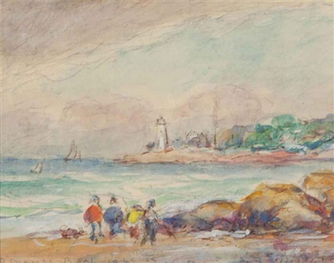 good harbor beach two companion works 3 works by reynolds beal