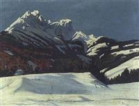 winterlandschaft in tirol by hans hilber