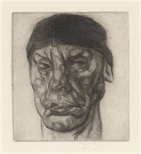 man with a skull cap by dennis jones