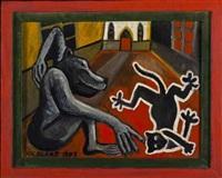 monkey and dog by nicolaas maritz