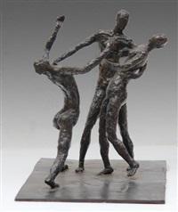 danseur et deux danseuses nus by francis warin