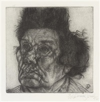 portrait of an old woman by dennis jones