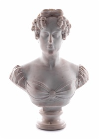 marmorbüste der comtesse du cayla by jean-marie pigalle