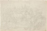 trionfo di cesare. trasporto di arsinoe, sorella di cleopatra by giacomo zoboli