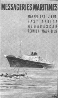 messageries maritimes, marseille, djibouti, madagascar, la réunion, maurice by gachons des