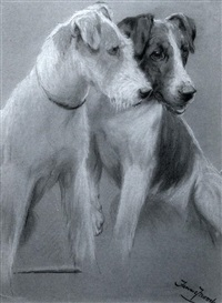 two fox terriers by fannie moody