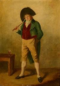 portrait d'homme en pied by jean baptiste madou