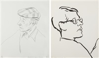 william burroughs (+ james,; 2 works) by david hockney