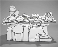 comptoir amoncellement (laden counter) (in 15 parts) by jean dubuffet