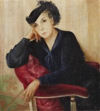 a woman seated by lydia dmitrievsky