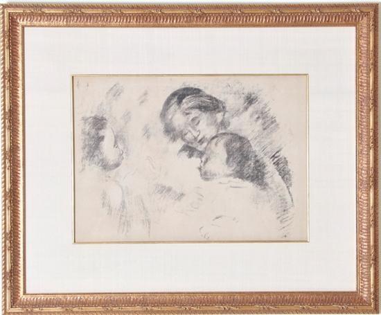 une mere et deux enfants by pierre auguste renoir