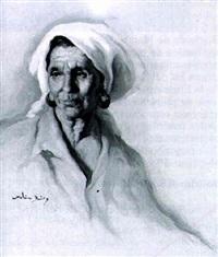 cabeza de anciana mora by molina muñoz