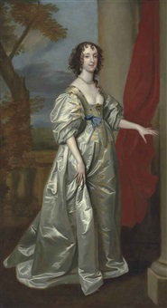 portrait of mrs. thomas carey (d. 1678), later lady herbert by sir anthony van dyck