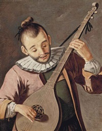the chinese lute player by giacomo francesco cipper