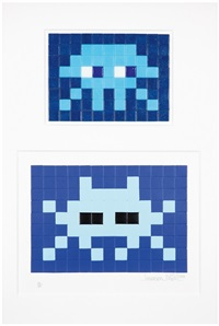 invasion kit 11 et blue invasion (2 works) by invader