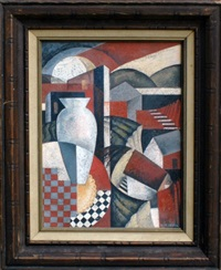 cubist composition by sándor bortnyik