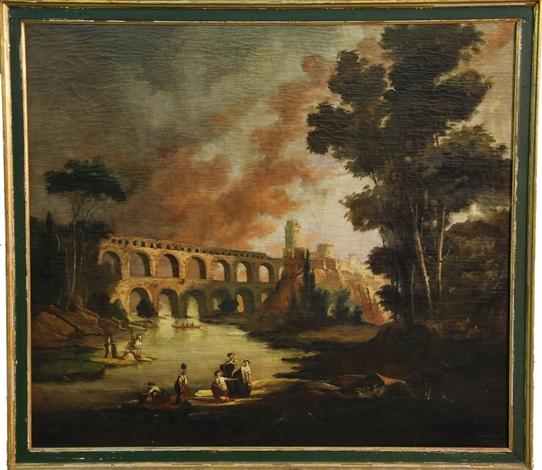 pont du gard, near nimes, france by hubert robert