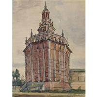 red tower in st. petersburg by anna petrovna ostroumova-lebedeva