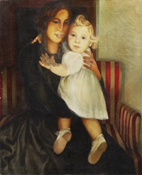 a mother with her child by lydia dmitrievsky