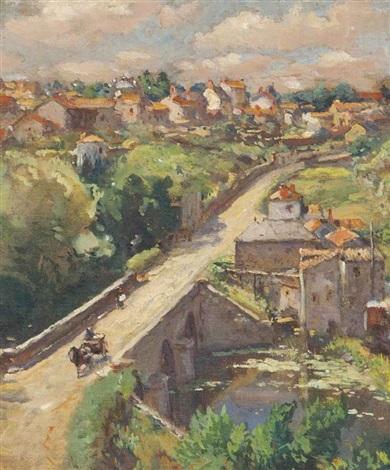 pont du nid doie clisson france by colin campbell cooper