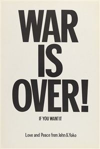 war is over by yoko ono and john lennon
