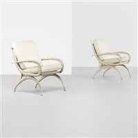 sable horn chairs (pair) by arthur court