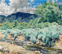 greasewood, santa fe river by walter ufer