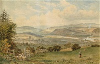 view over hexham by thomas h. hair