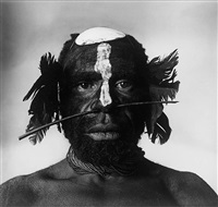 tribesman with nose ornament (new guinea, 1970) by irving penn