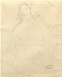 figural sketch by mary cassatt