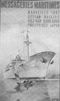 messageries maritimes. marseille, inde, ceylan, vietnam... japon by gachons des
