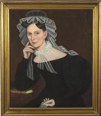 portrait of elizabeth hardenbergh dewitt by ammi phillips
